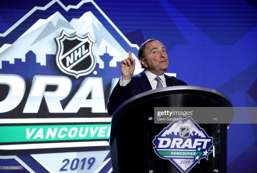 NHL Commissioner Gary Bettman at the 2019 NHL Draft (Credit:Getty)